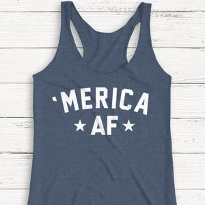 Tops - 4TH THE JULY 'MERICA AF TANK TOP OR TSHIRT